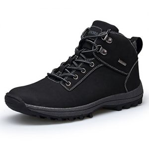 TSIODFO Casual Waterproof Shoes for Men Mens Size 11 Hiking Boots Waterproof Hiking Boots for Men Black Backpacking Boots Outdoor Trekking Sport Lightweight Sneakers Size 11 (572-1-Black-45)