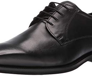 ECCO Men's Calcan Plain Toe Tie Oxford, Black