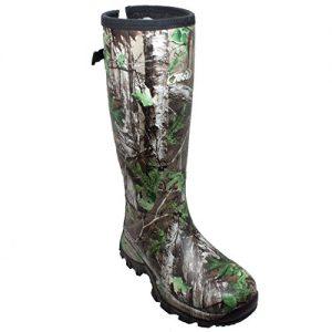 "TECS Men's 17"" Rubber Boots: Neoprene, Fleece Lining"