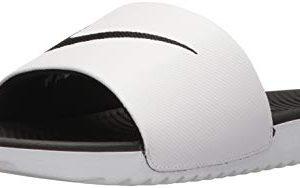 Nike Men's Kawa Slide Sandal, White/Black