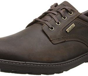 Rockport Men's Storm Surge Water Proof Plain Toe Oxford Tan