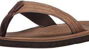 Reef Mens Sandal Voyage Le | Premium Real Leather Flip Flops