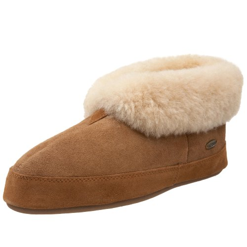 ACORN Men's Sheepskin Bootie,Walnut