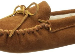 Minnetonka Men's Pile Lined Softsole, Brown