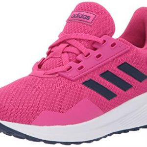 adidas Unisex-Kid's Duramo 9 Running shoe, real magenta/dark blue/white