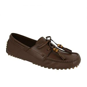 Gucci Bamboo Tassel Brown Leather Loafer Driver