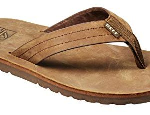 Reef Men's Sandal Voyage LE | Premium Real Leather Flip Flops