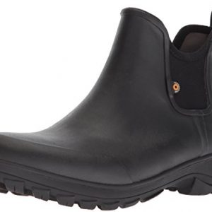 Bogs Men's Sauvie Slip Chukka Boot, Black