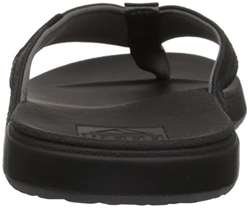 Reef Men's Sandals Cushion Bounce Phantom | Flip Flops for Men THE ONLY SANDAL YOU NEED: When seashore sandals and supreme consolation come collectively, you get the Phantom! These flip flops have develop into a staple for not simply summer time, however seashore life generally with in-built consolation to resist any journey DURABLE + COMFORT: Phantom flip flops have padded jersey lined straps which have outboard lasted development for elevated consolation. CUSHION BOUNCE TECHNOLOGY: Reef Signature Cushion Bounce sandals have a excessive power rebound for easy consolation. The rubber sponge outsole does all of the heavy lifting for you. So you will get your bounce on with or and not using a seashore view NO BREAK-IN PERIOD: Packed with the consolation and assist of Reef's anatomical arch assist and heel cupping, the Phantom sandal will hold your toes snug regardless of the place they take you BEACH FREELY WITH REEF: We are encouraging individuals world wide to embrace the enjoyable, freedom and spirit of the seashore whereas residing life by one easy rule: Beach Freely. Our merchandise are designed to make you are feeling snug, relaxed and free in any atmosphere, whether or not you are on the seashore or not. Reef Men's Sandals Cushion Bounce Phantom | Flip Flops for Men with Cushion Bounce Footbed, Black, 11.