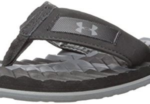 Under Armour Boys' Marathon Key III Flip-Flop, Black