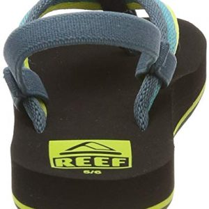 Reef Boys AHI Beach Sandal, Blue/Green