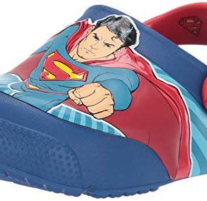 Crocs Kids' Fun Lab Superman Light-Up Clog, Blue Jean