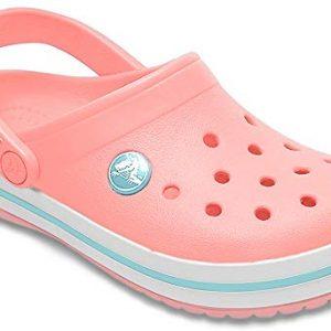 Crocs Kids' Crocband Clog, melon/ice blue