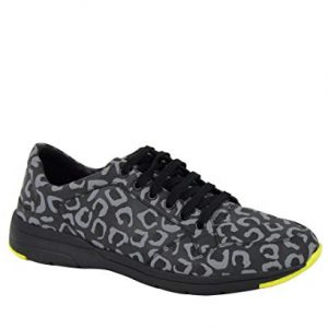 Gucci Reflex Leopard Print Gray/Yellow Fabric Running Sneakers