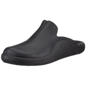 Romika Mokasso Men's Black Leather Slipper