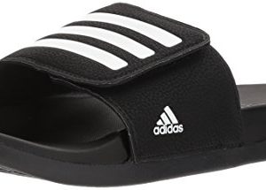 adidas Unisex-Kids Adilette Clf+ Adj K, Real Teal/White/Real Teal