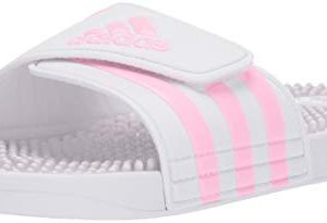 adidas Unisex Adissage, White/True Pink/White