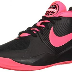 Nike Unisex-Kid's Team Hustle D 9 (GS) Sneaker, Black/Racer Pink