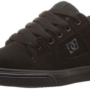 DC Pure Elastic Skate Shoe, Black