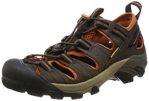 KEEN Men's Arroyo II Hiking Sandal,Black Olive/Bombay Brown