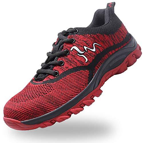 JACKSHIBO Steel Toe Work Shoes for Women Men Safety Indestructible Shoes