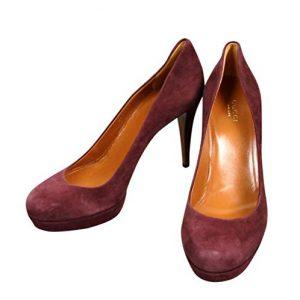 Gucci Women's Purple Suede Platform Pump Shoes