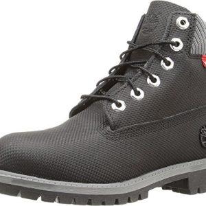 "Timberland Kids Boy's 6"" Premium Boot (Big Kid) Black Relief Helcor Boot"