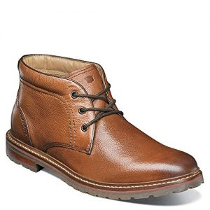 Florsheim Mens Estabrook Plain Toe Chukka Cognac Tumbled Boot