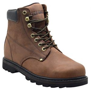 """EVER BOOTS """"Tank Men's Soft Toe Oil Full Grain Leather Insulated Work Boots"""
