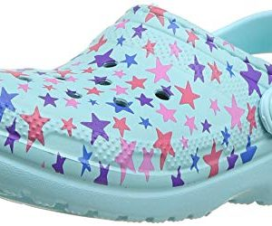 Crocs Classic Printed Lined Clog, Ice Blue