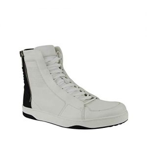 Gucci Zip Up Black/White Suede/Leather Hi Top Sneakers