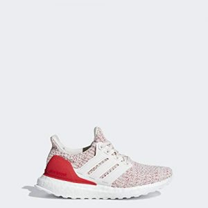 adidas Unisex-Kid's Ultraboost, Chalk White/Chalk White/Active red