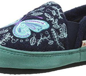 ACORN Girls' Colby Gore Moc - K, Navy Butterfly