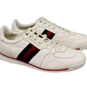 Gucci White Leather Running Shoes Sneakers