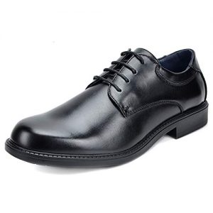 Bruno Marc Men's Downing-02 Black Leather Lined Dress Oxford Shoes