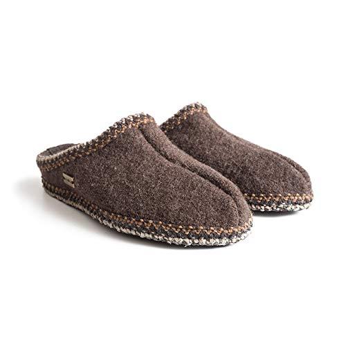 HAFLINGER Alaska AS Unisex Classic Slippers, Smokey Brown