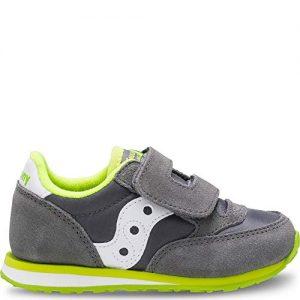 Saucony Boys' Baby Jazz HL Sneaker, Grey/White