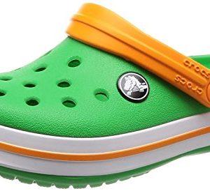 Crocs Kids Crocband Croslite Clog Grass Green/White/Blazing