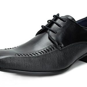 Bruno Marc Men's Gordon-01 Black Classic Modern Formal Oxfords Lace Up