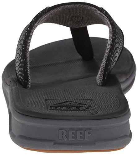Reef Men's Sandals Rover | Water-Friendly Men's Sandal Reef Men's Sandals Rover | Water-Friendly Men's Sandal With Maximum Durability and Comfort | Waterproof, Black, 11.