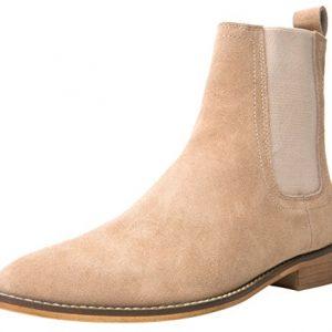 SANTIMON Chelsea Boots Men Suede Casual Dress Boots Ankle Boots