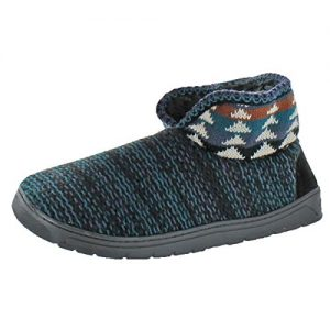 MUK LUKS Men's Mark Slippers, Black, Medium