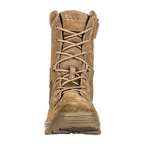 "5.11 Men's ATAC 2.0 8"" Tactical Side Zip Military Boot 5.11 Men's ATAC 2.0 8"" Tactical Side Zip Military Boot, Style 12393, Dark Coyote, 13 M US."