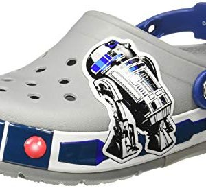 Crocs Kids' Crocband Lights Clog, light grey