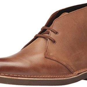 CLARKS Men's Bushacre 2 Chukka Boot, Dark tan Leather
