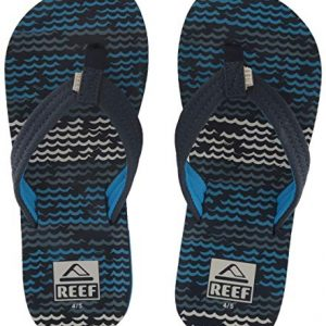 Reef Unisex-Kid's AHI Sandal, Blue Horizon Waves