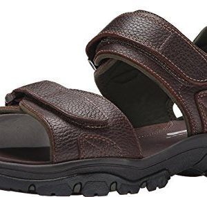 Rockport Men's Rocklake Flat Sandal, Brown/Brown
