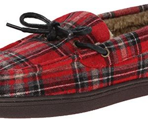 Woolrich Men's Lewisburg Slipper,Chocolate Plaid