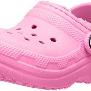 Crocs Kids' Classic Lined Clog, Pink Lemonade/Pink Lemonade
