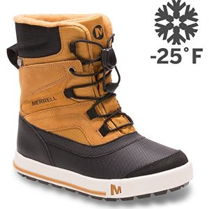 Merrell Snow Bank 2.0 Waterproof Snow Boot , Wheat/Black